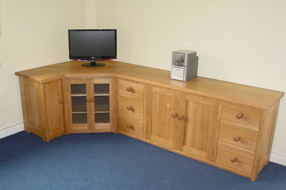 Oak TV and Storage Unit