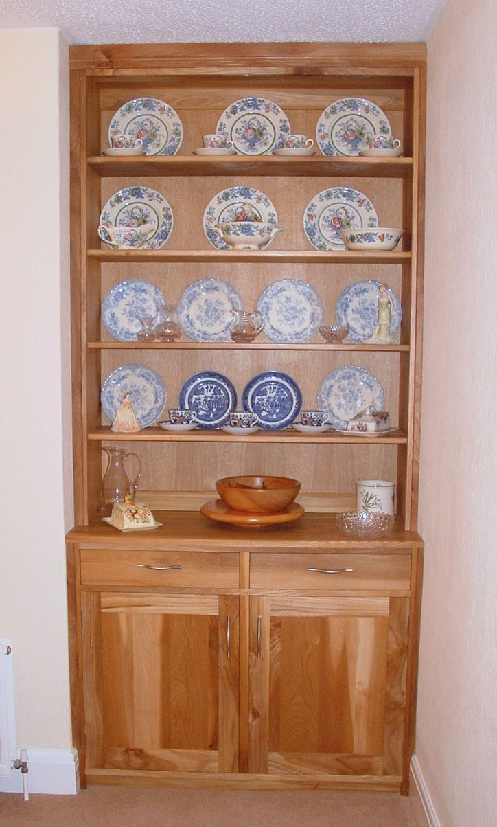 Scottish Elm Fitted Dresser