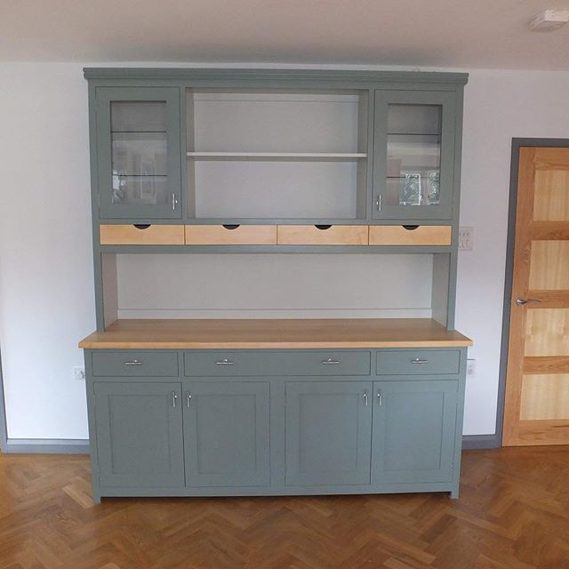 Painted and solid Maple Dresser finally finished and delivered to a very very happy client.