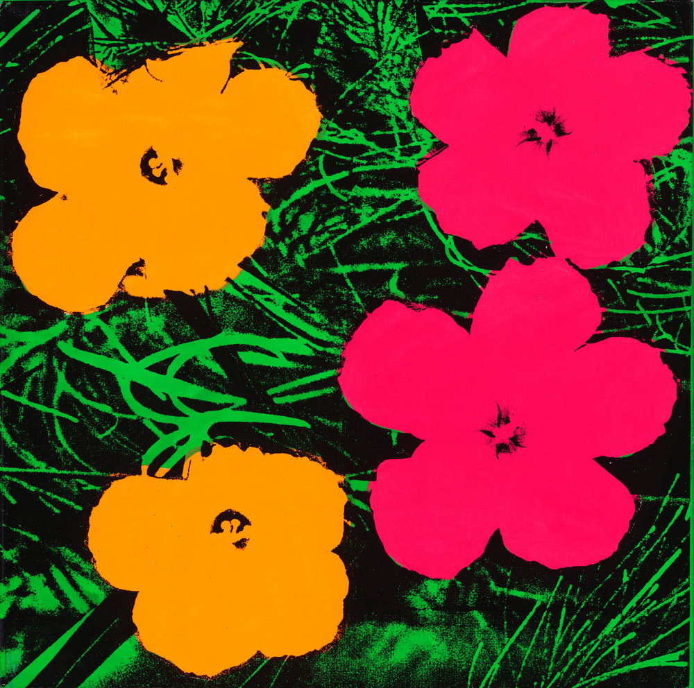 Andy Warhol (1928–1987),  Flowers , 1964. Fluorescent paint and silkscreen ink on linen, 24 x 24 in. (61 x 61 cm). © The Andy Warhol Foundation for the Visual Arts, Inc. / Artists Rights Society (ARS), New York