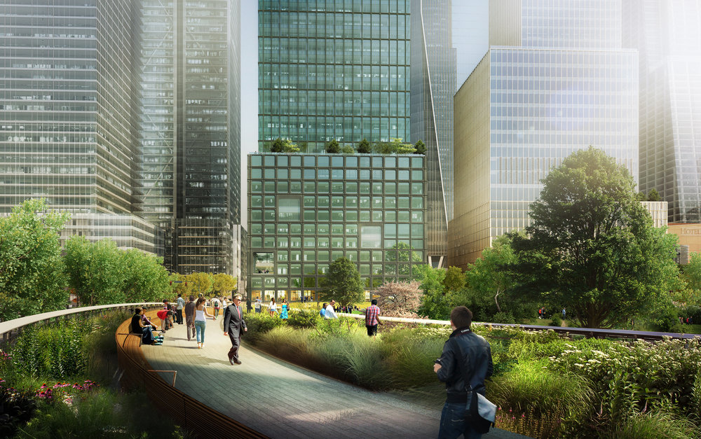 55 Hudson Yards Viewed from the High Line - courtesy of Related-Oxford-Mitsui