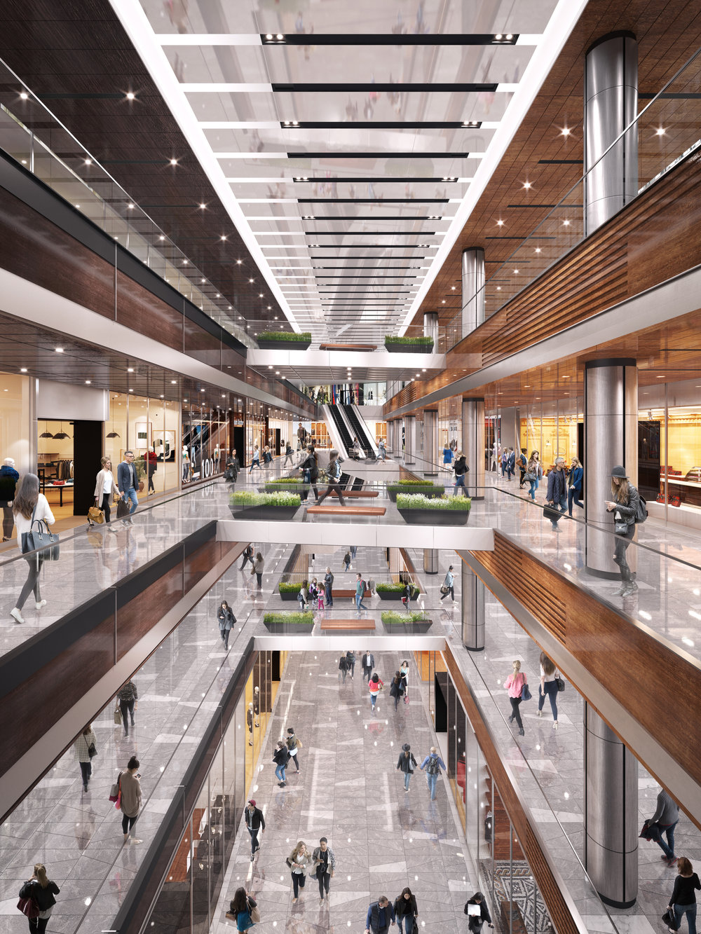 North Gallery, The Shops & Restaurants at Hudson Yards. Courtesy of Related-Oxford