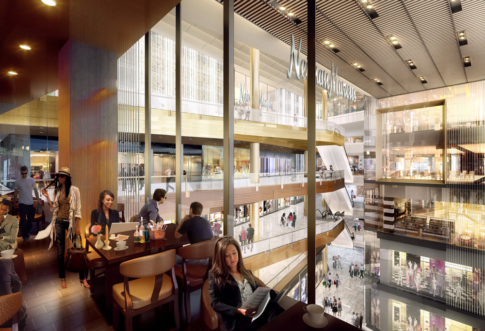 Restaurant view of Neiman Marcus. Courtesy of Related-Oxford