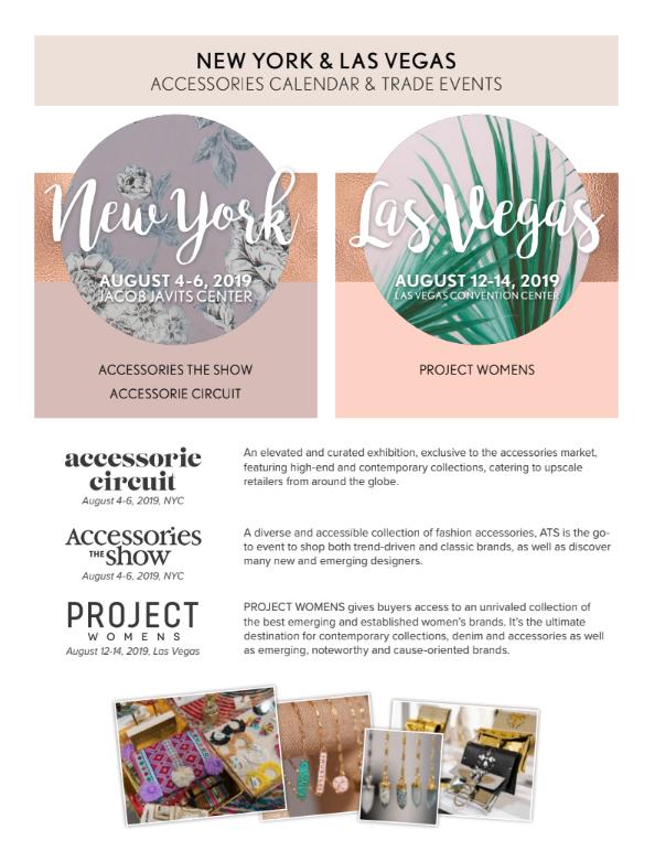Javits Center Calendar 2019 NEW YORK & LAS VEGAS ACCESSORIES CALENDAR & TRADE EVENTS