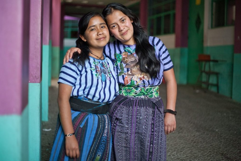 Chonita with MAIA graduate Mayra (left) in 2012. Photo credit: Kate Lord