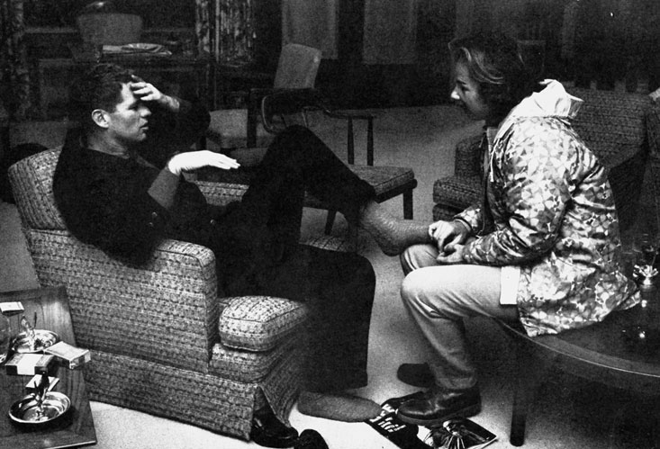 "At Camp David getting admiration and a foot rub from wife Ethel. Bobby remarked, ""I'm a little stiff but that's natural having never walked 50 miles before."" Photo: Life Magazine - February 22, 1963."