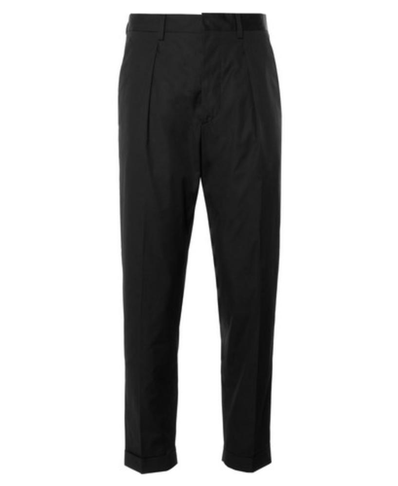 PRADA Slim-Fit Tapered Cotton-Poplin Trousers