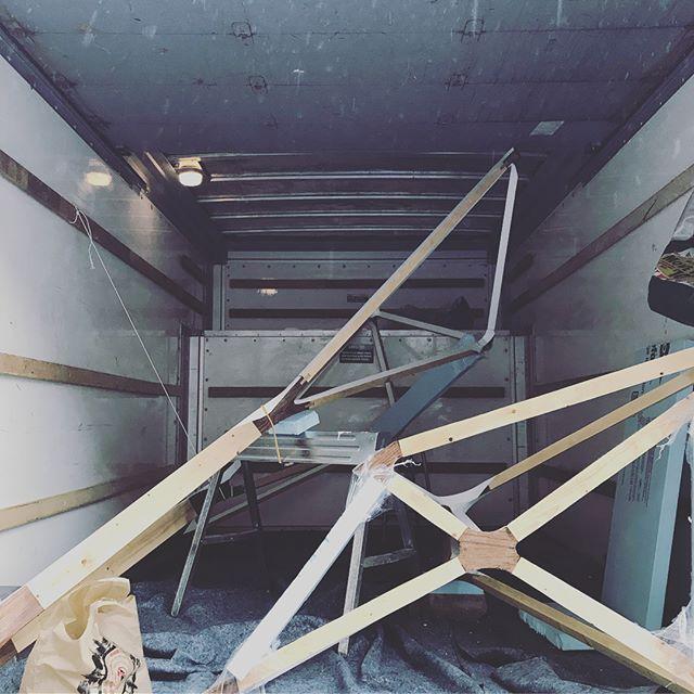 Behind the scenes: U-Hauls, excavation, ladders.