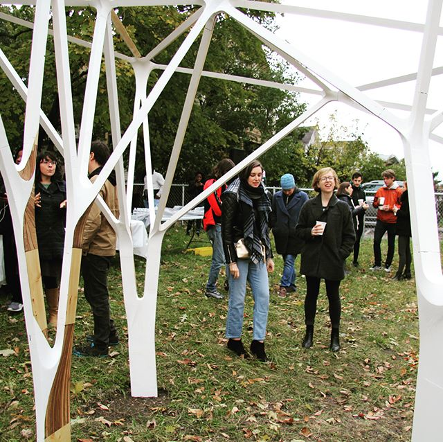 Thank you to all who braved the chilly weather to see Lost House yesterday! We so enjoyed seeing you. . . . #losthouseart #gldarchitecture #installationart #publicartboston #nowandthere