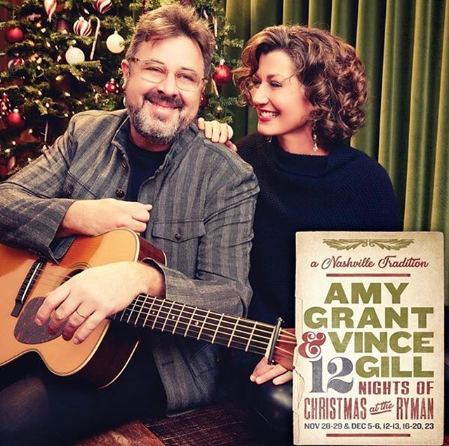 Excited and honored to begin year 3 of Christmas shows tonight @theryman with the lovely Amy Grant. 🎄 This photo from last year, was taken behind the scenes before the show.  Amy's hair & makeup by me.  Photo from @theryman.