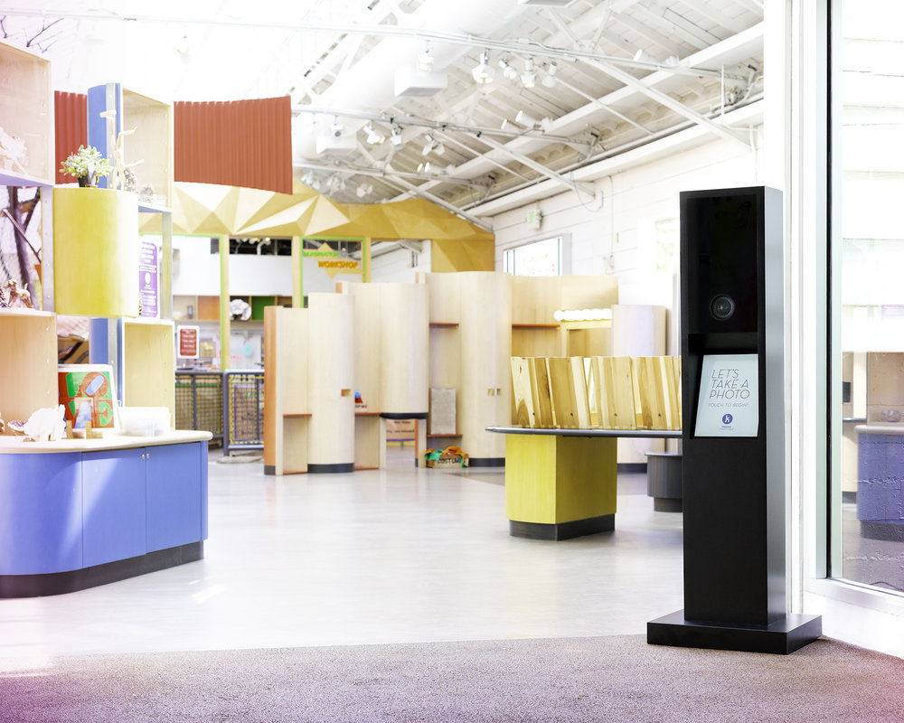 """Kidspace - """"We have been able to expand our digital reach for re-marketing through the email capture and social sharing features and Lensley was able to customize our photo booth to be kid friendly height, since our museum caters to young children.""""— Kristen Payne, Kidspace Children's Museum"""