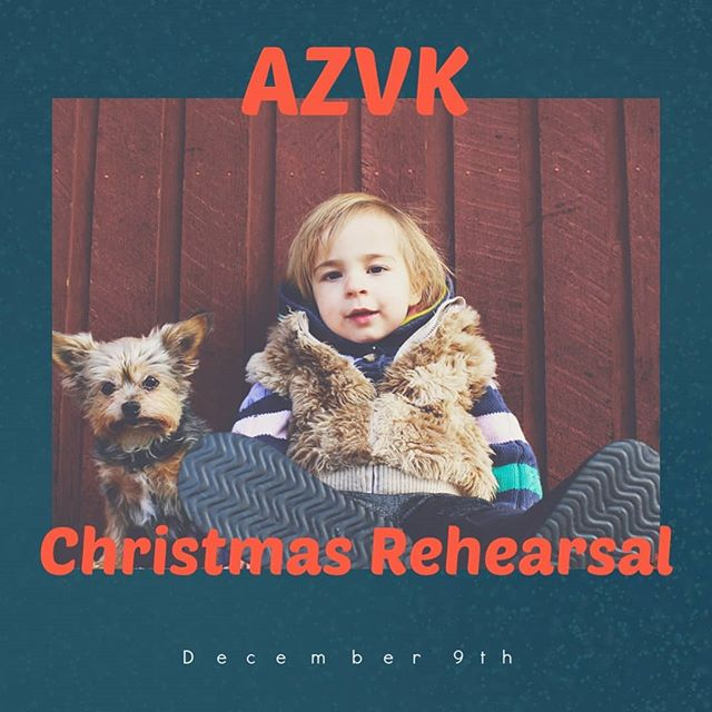 AZ Vineyard Kids are meeting after service, 12/9/18 to rehearse the Christmas performance. See you there!