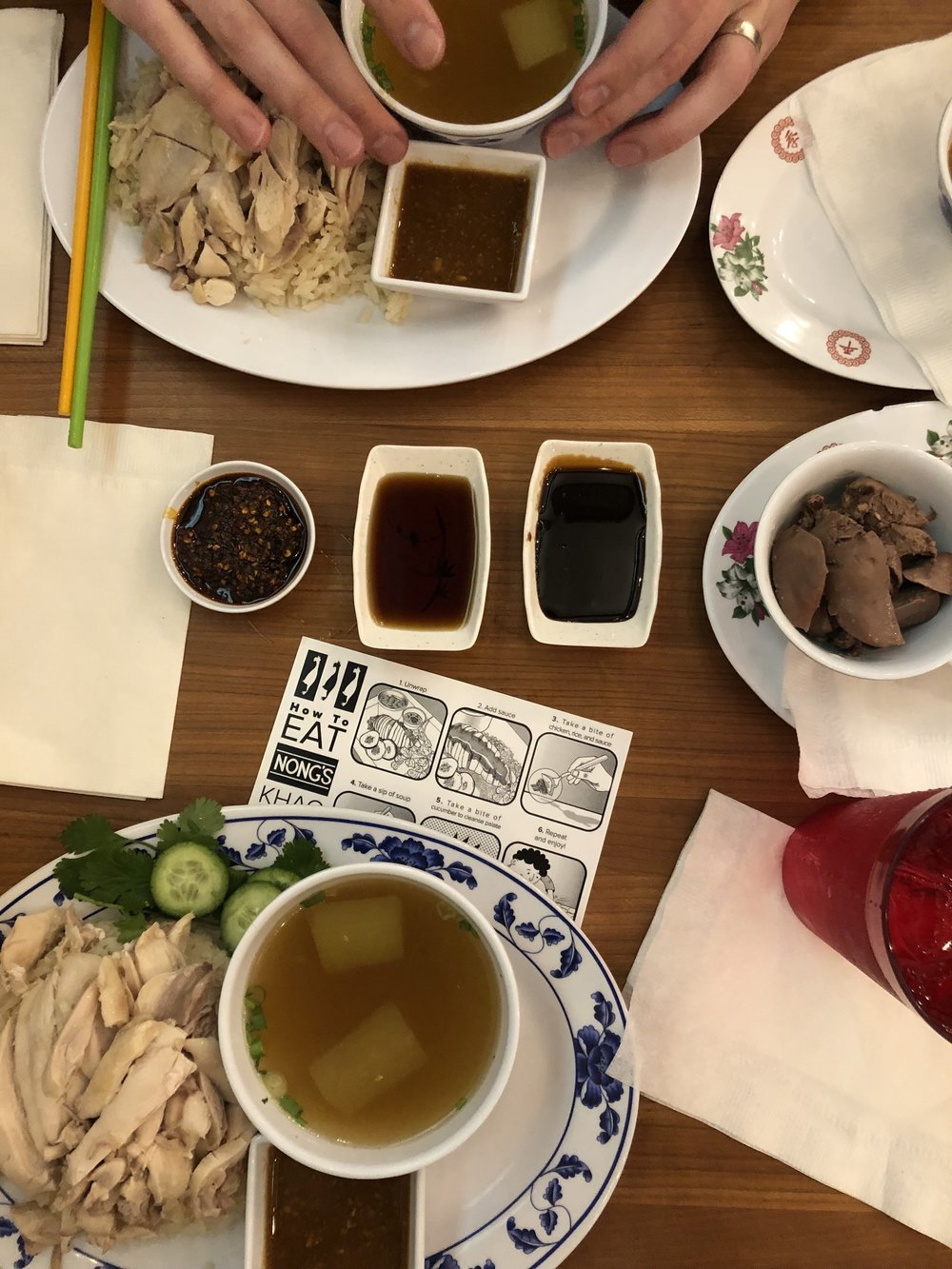 Chicken, Rice, and Liver at Nong's Khao Man Gai