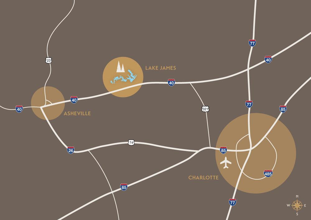 1780 Lake James Lake James Nc Map Directions Lake James