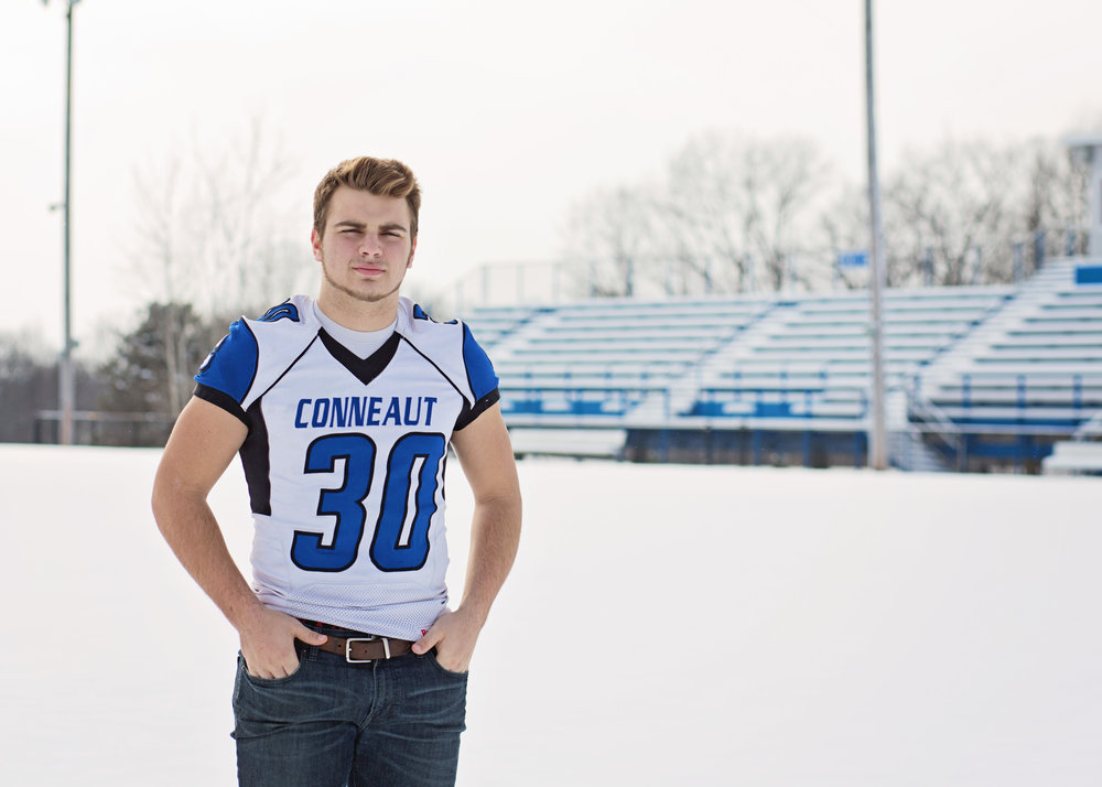 Football Player | Kelly Rhoades Photography
