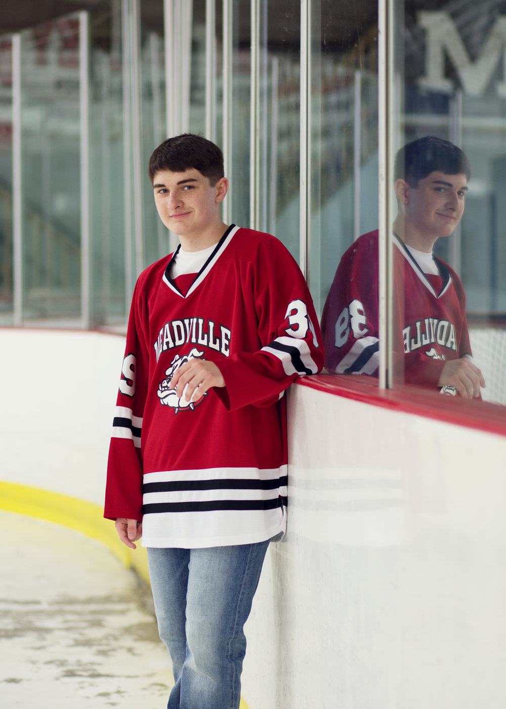 Hockey Senior Session | Kelly Rhoades Photography