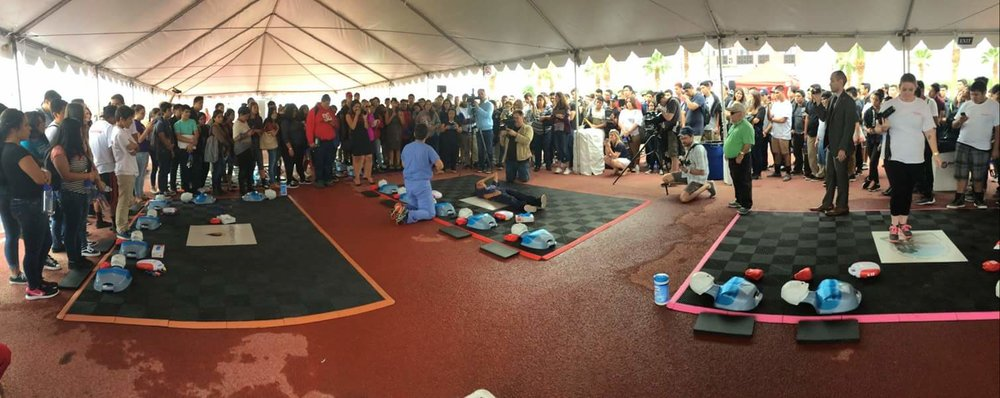 Our CPR and AED skills events have grown into Career Technical Awareness Fairs that help facilitate and introduce career opportunities to high school students. Participants include elected officials, emergency response agencies, public and private corporations, local media stations and community members.