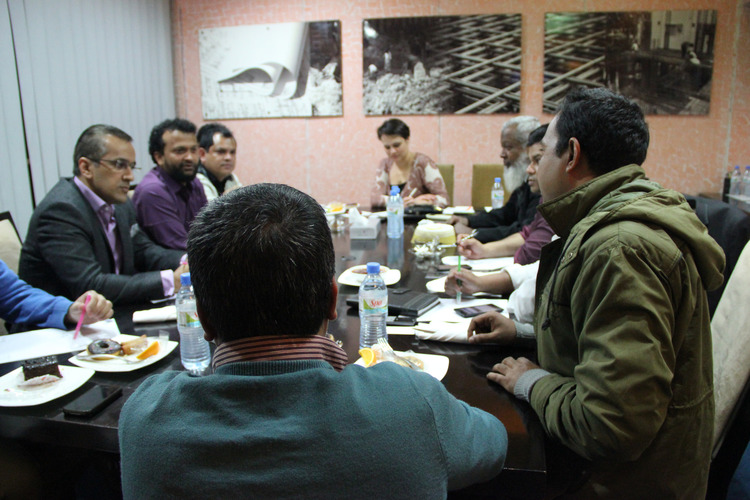 Focus group of owners of large and small factories, Dhaka, February 2014.
