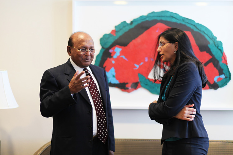 Commerce Minister Tofail Ahmed meets with Assistant Secretary of State Nisha Biswal, June 11, 2014 (U.S. Department of State)