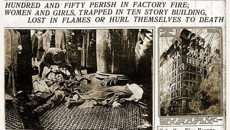 Factory safety and labor protections; the difference ... Triangle Shirtwaist Fire Nyu