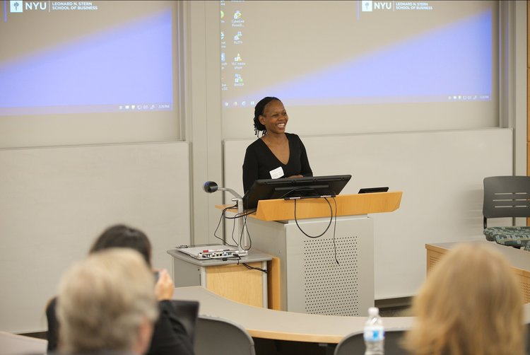 Lerato Thesiko presenting her research at the 2018 BHR Scholars Conference