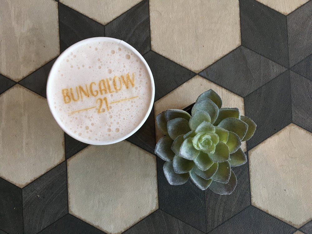 Grab a beverage in the cafe at Bungalow 21 Salon & Day Spa in Calabasas California