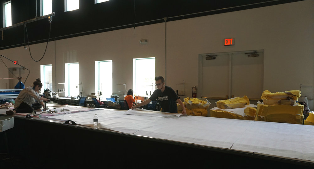 The manufacturing space in FABRIC has room for a 40-foot cutting table.