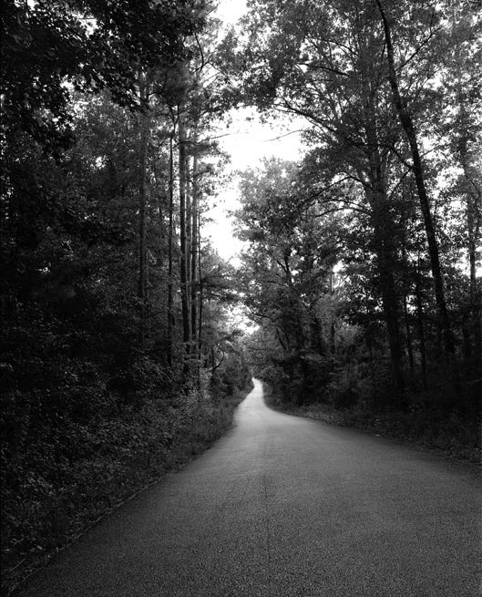Huff Creek Road in Jasper, Texas, where James Byrd, Jr. was dragged to his death by white supremacists.