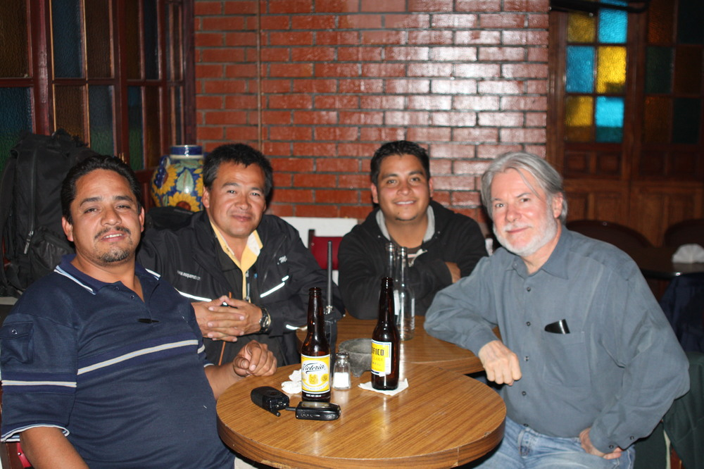 Beer with local journalists, 2011