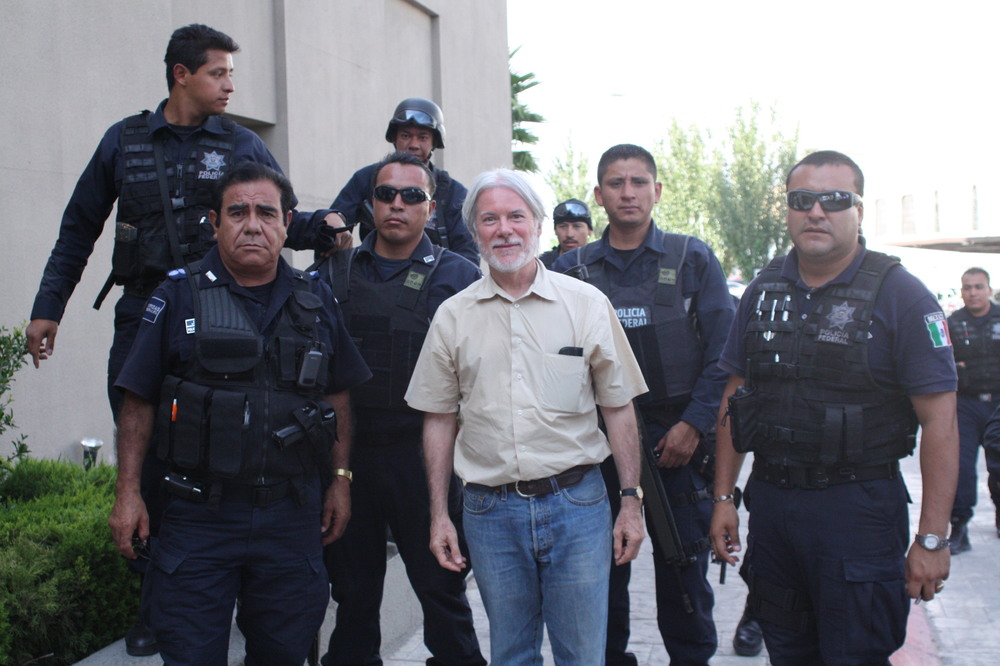 With Mexican Federal Police, 2011