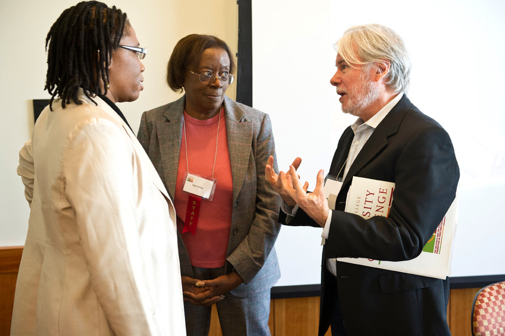 With Guerda Nicolas (University of Miami) far left, and Janet Helms, (Boston College) after the annual Diversity Challenge 2012 symposium at Boston College.
