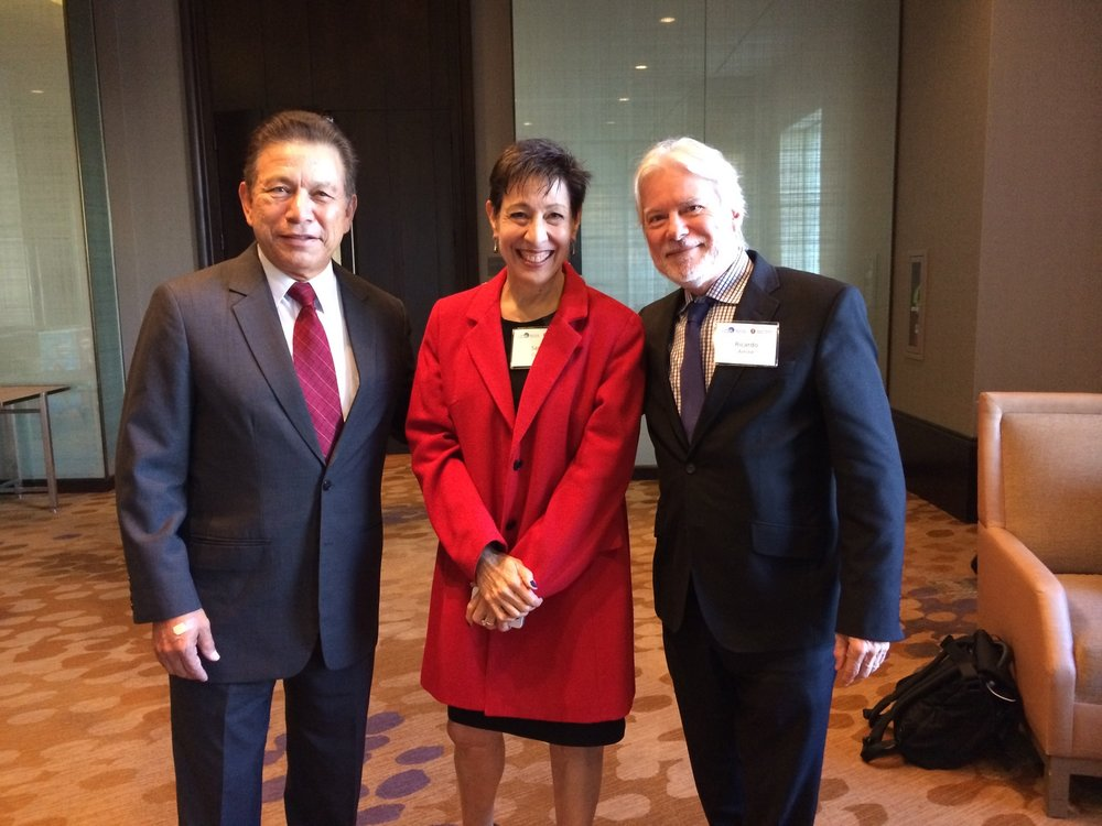 With Sarah Cortez and Hipolito Acosta after presentation at the NCPA Hatton W. Sumners Foundation Weekend Policy Conference.