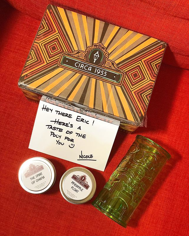 When I asked my friend Nicole, founder of the amazing candle company @luxillumecandles , if she happened to have a scent close to Disney's Polynesian Resort, I wasn't expecting this amazing shipment to arrive at my door!  Nicole included a sample of her 'The Spirit of Ohana' and 'Pineapple Float' candles. And she tossed in a tiki glass too! They smell AMAZING! If you are in need of some great candles, equally matched up with some amazing customer service, I highly recommend checking out @luxillumecandles ! You won't be disappointed!