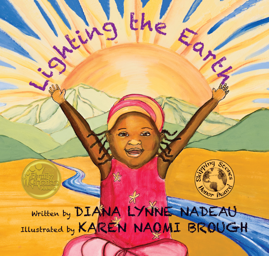 """- With simple language and delightful illustrations, Lighting the Earth beautifully addresses universal questions, """"Who am I?"""" and """"Why am I here?"""""""