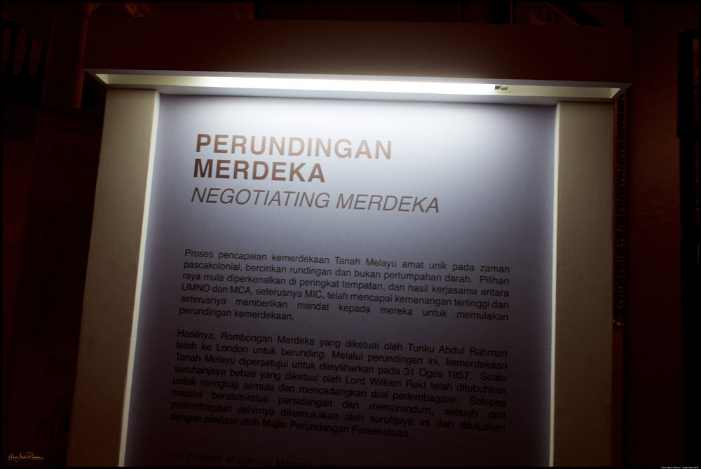 Part of the Merdeka exhibition held there