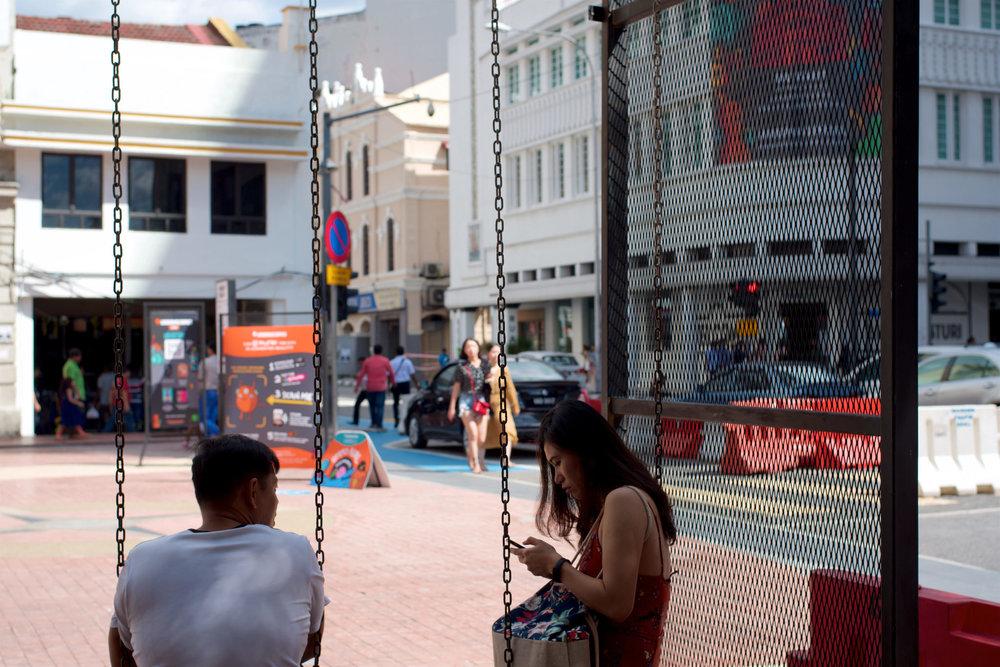 Swings outside at Medan Pasar
