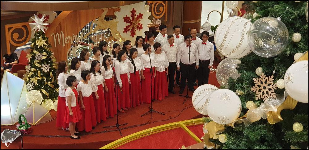 Carol singers at Bangsar Shopping Centre
