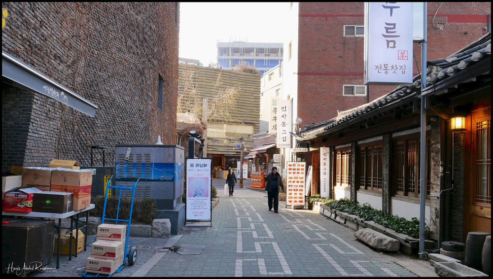 The teahouses were hidden away in the side lanes