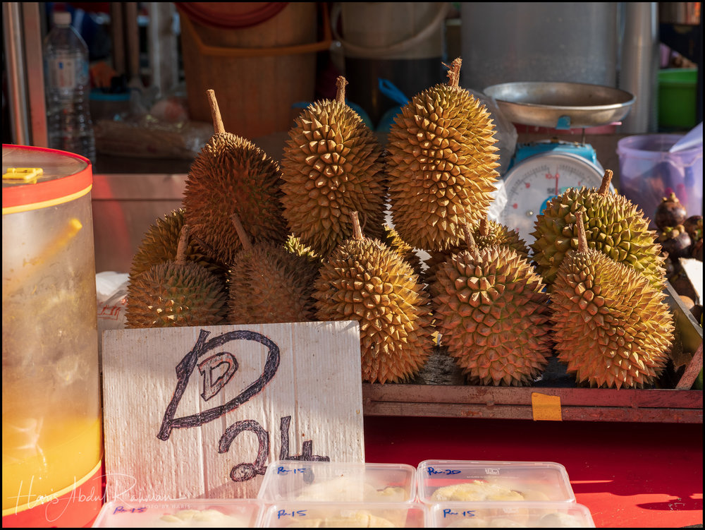 The durians here doesn't come in cheap …