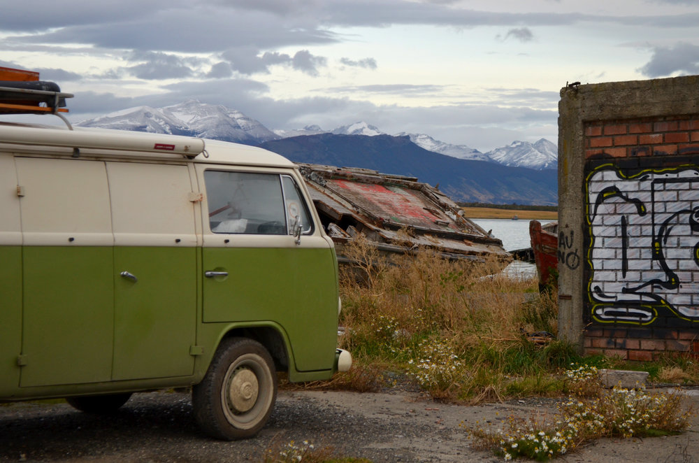 The abandoned ship yard in Puerto Natales is a photographer's dream!