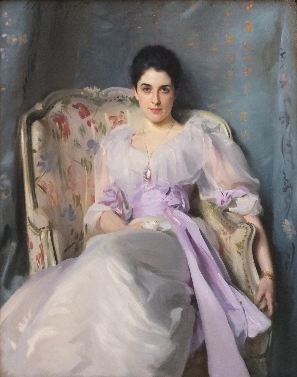 Lady Agnew of Lochnaw (John Singer Sargent). A decir verdad la imagen no tiene relevancia con el contexto histórico de la leyenda, pero me gusta pensar que Flandrine tenía una mirada coqueta como la de Lady Agnew.