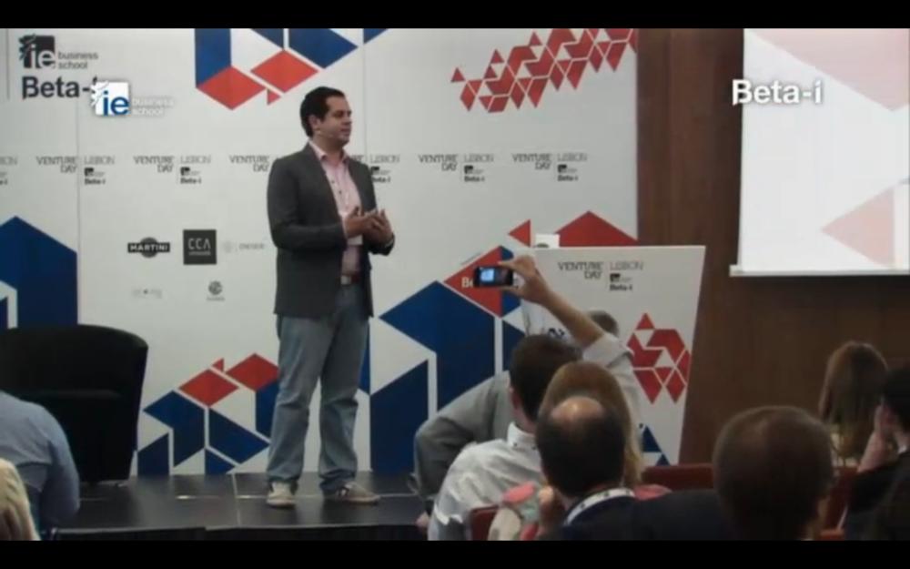 Rui Delgado at Venture Day 2013. Lisbon, Portugal.-