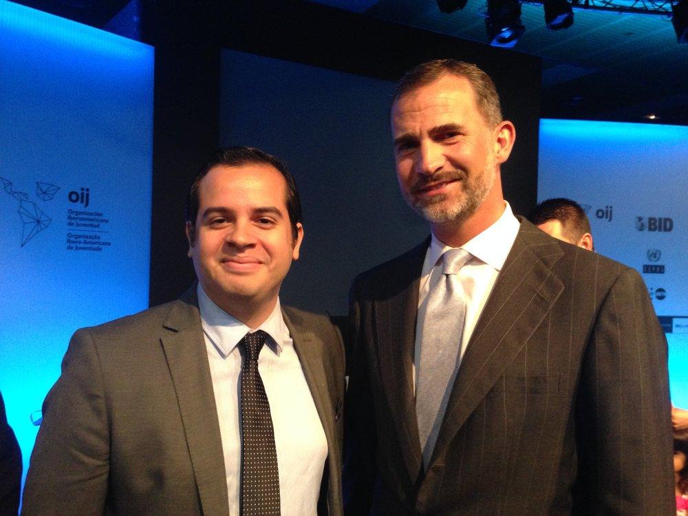 Rui Delgado and HM Felipe VI, King of Spain.-