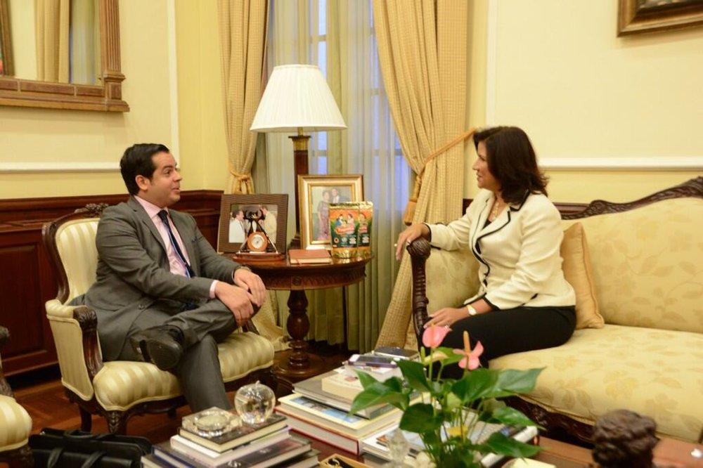 Rui Delgado and Margarita Cedeño, Vice-President of the Dominican Republic.-