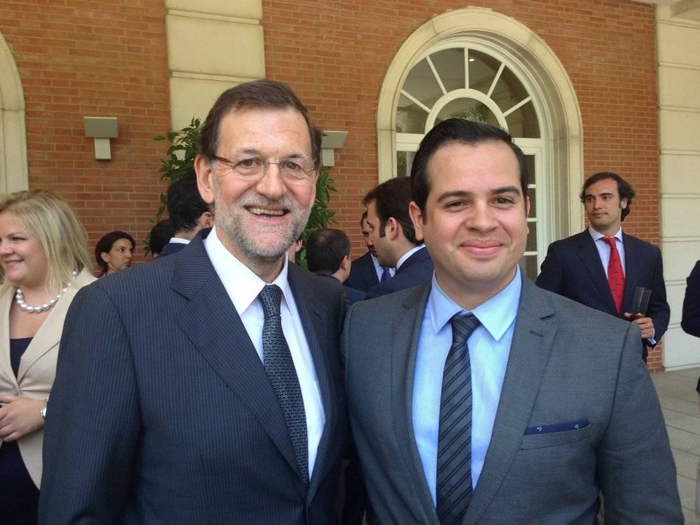 Mariano Rajoy, Prime Minister of Spain (2013) and Rui Delgado.-