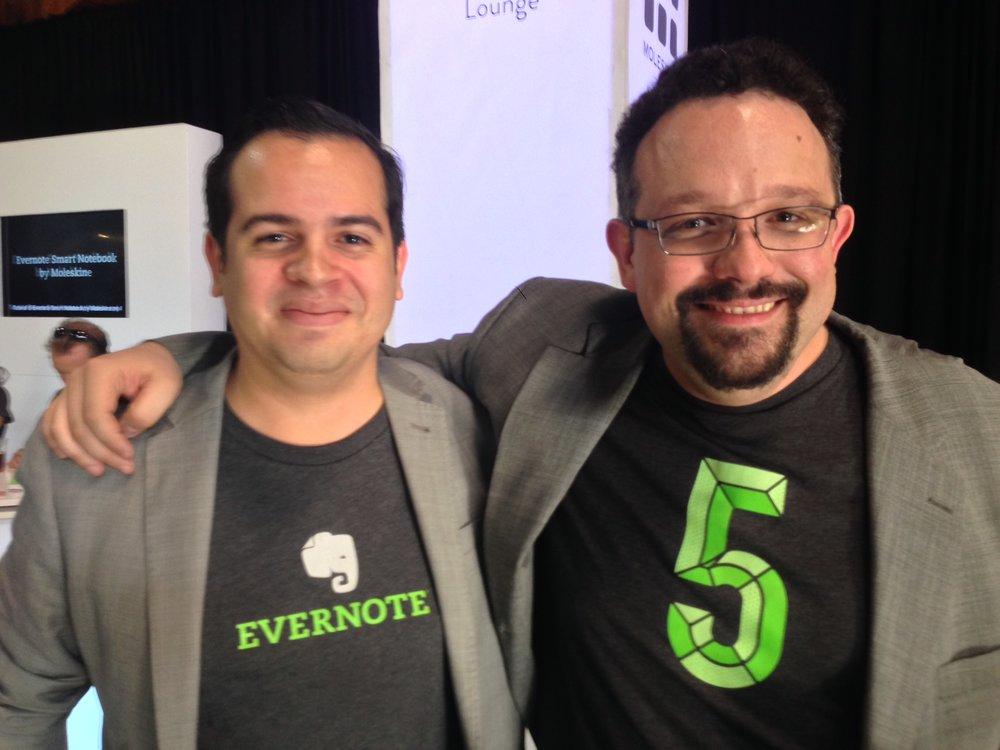 Rui Delgado and Phil Libin, then CEO of Evernote.
