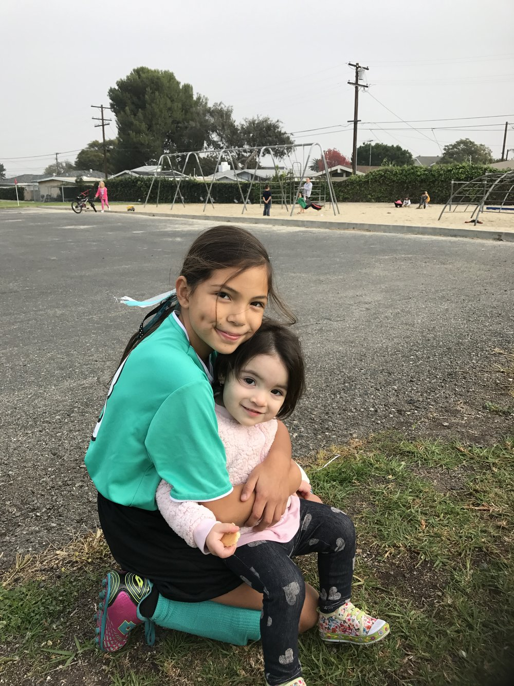 With one of her favorite cousins Camila