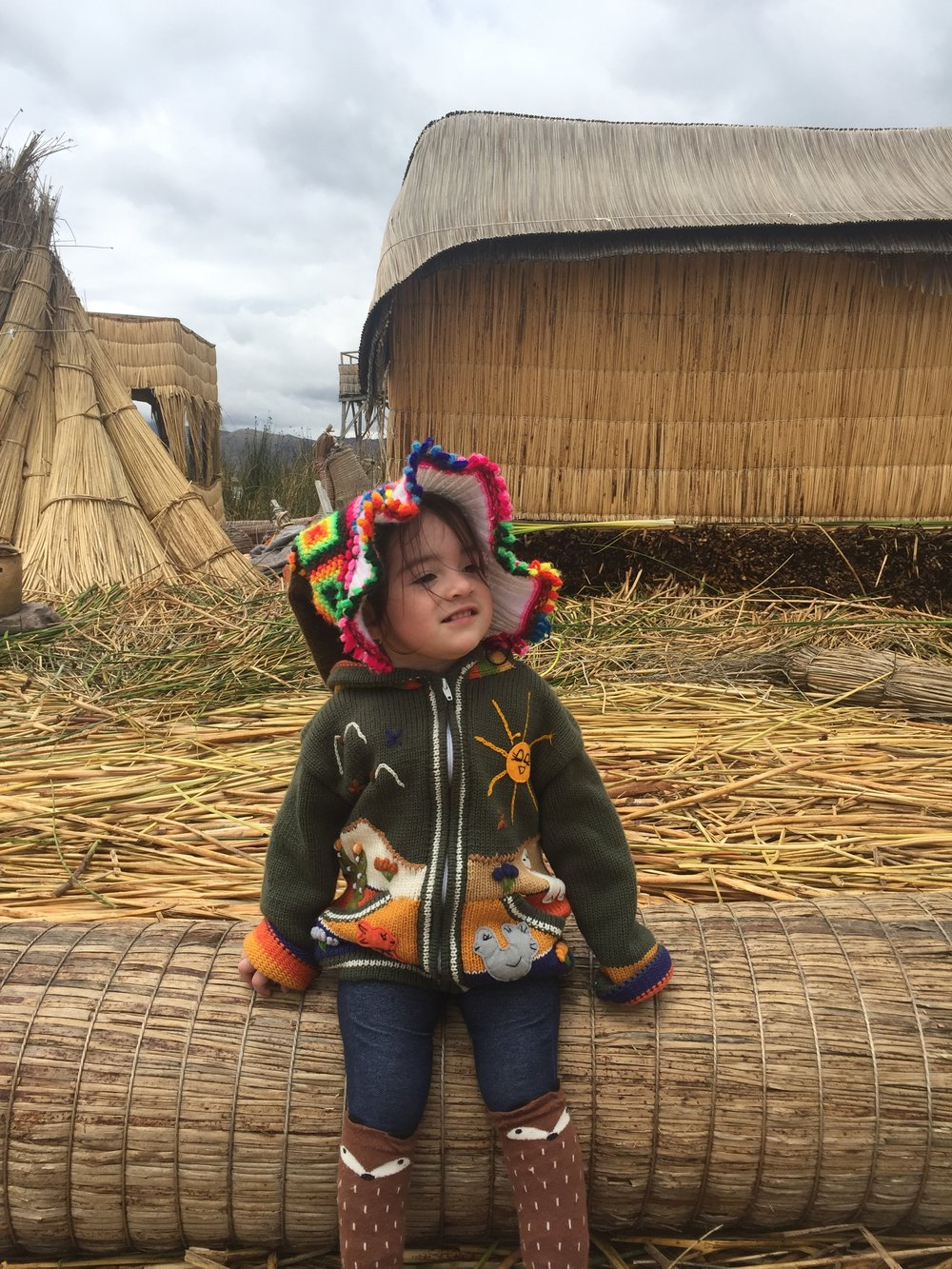 In the beautiful city of Puno, Peru during our family trip on March 2017