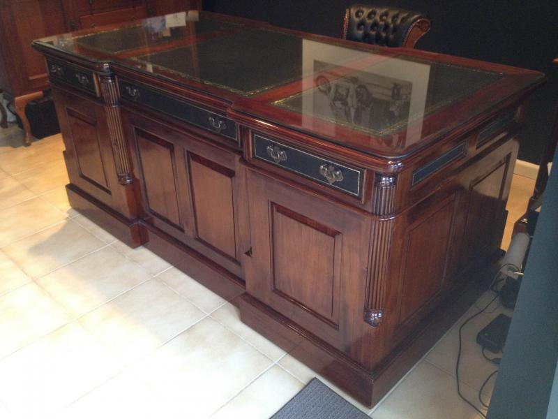 Antique Reproduction Partners Desk - Desks And Writing - Reproduction  Antique Desks Antique Furniture - Replica - Reproduction Antique Desk Antique Furniture