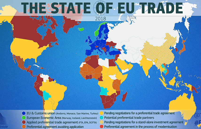 The EU is now mostly financed by DG Trade frequent flier miles.